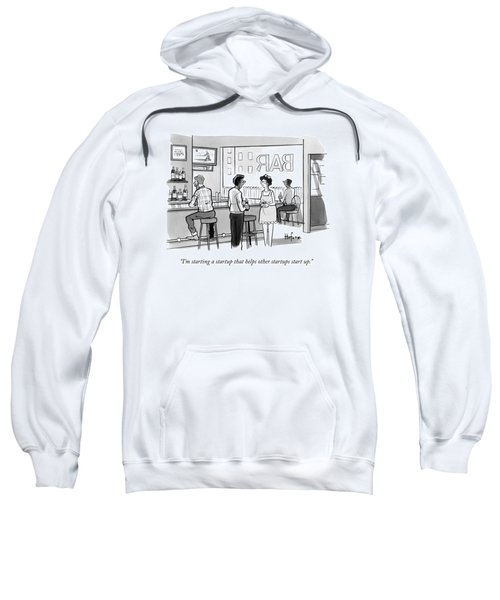 A Man In A Bar Talks To A Woman Sweatshirt