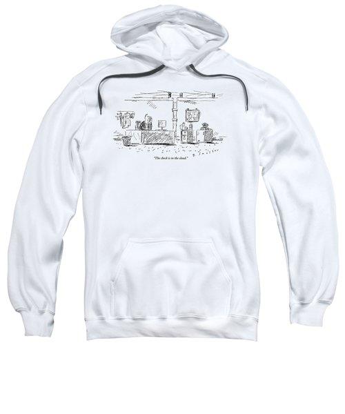 A Man In An Office Sweatshirt