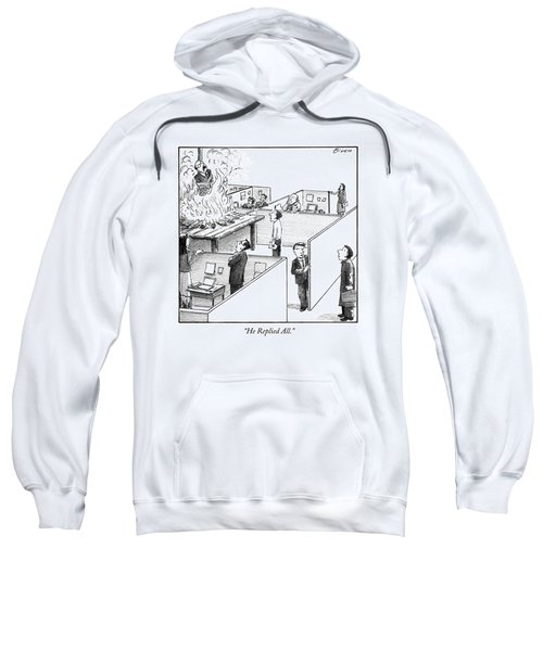 A Man Is Burned At The Stake In The Middle Of An Sweatshirt