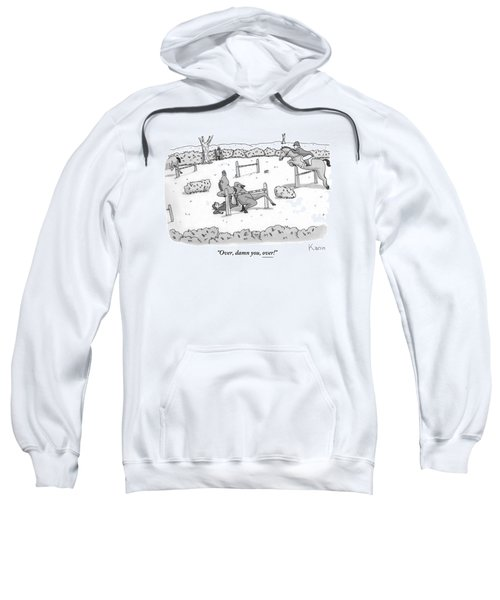A Man Is Riding A Horse In A Competition. Sweatshirt