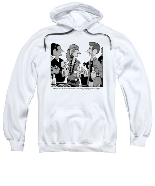 A Man Is Seen Speaking To Another Man And Woman Sweatshirt