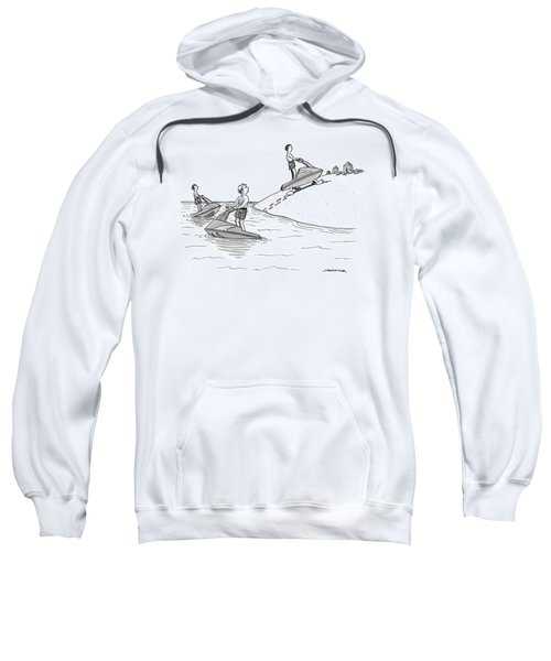 A Man On A Jetski Looks At Another Man Sweatshirt