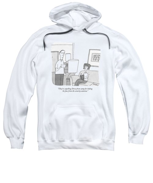 A Man Reads A Letter Aloud To His Wife Sweatshirt