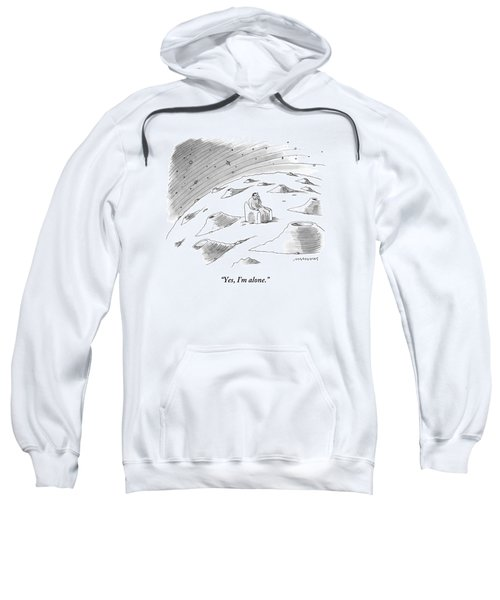 A Man Sits In A Chair On The Craterous Surface Sweatshirt