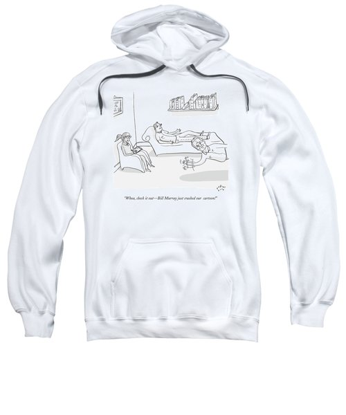 A Man Sits On A Therapists Couch Sweatshirt