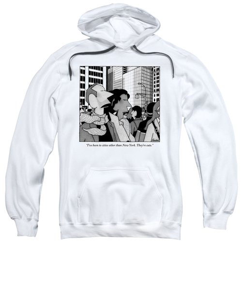 A Man Speaks To His Wife In The Midst Of New York Sweatshirt