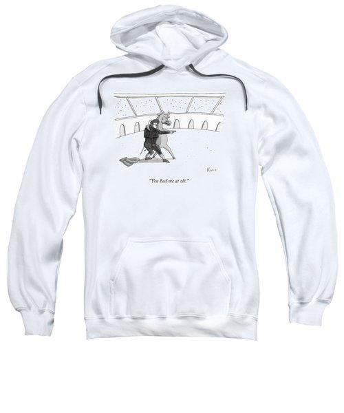 A Matador Dances With A Bull Sweatshirt