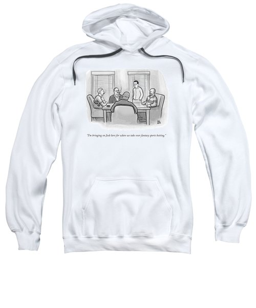 A Mobster Speaks To A Table Of Mobsters Sweatshirt