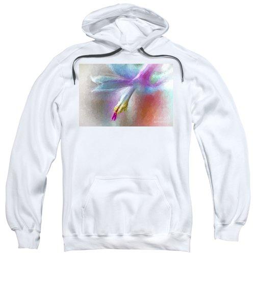 A Painted Christmas Cactus  Sweatshirt