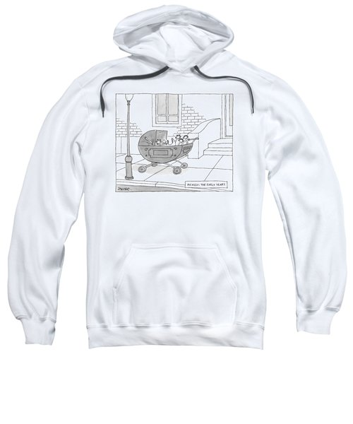 A Perambulator Containing A Crying Baby Picasso Sweatshirt
