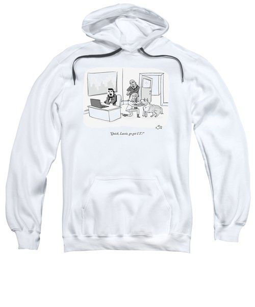 A Pixelated Man Sits Frozen In Front Sweatshirt