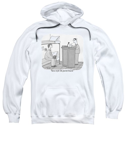 A Prisoner Seated On A Bunk Bed Is Speaking Sweatshirt