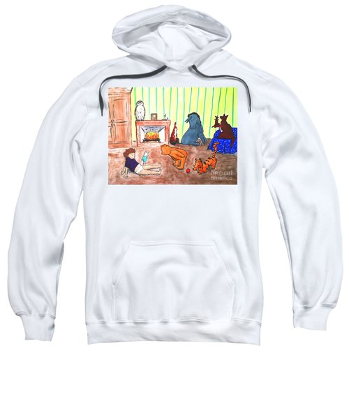 Sweatshirt featuring the painting A Row Of Toes by Denise Railey
