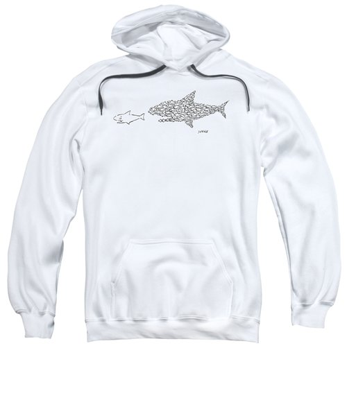 A Shark Is Chased By A School Of Fish That Sweatshirt