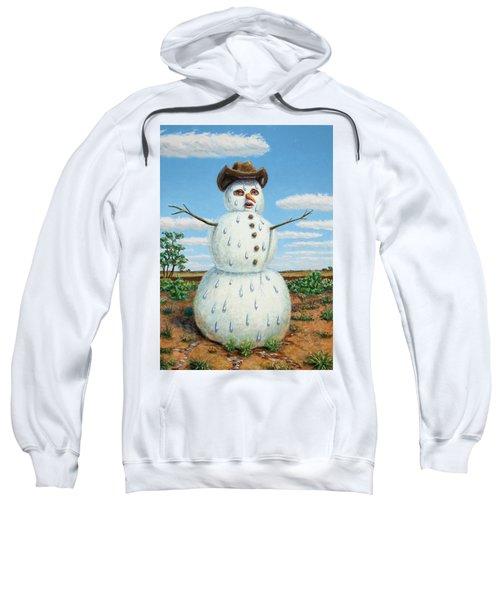 A Snowman In Texas Sweatshirt