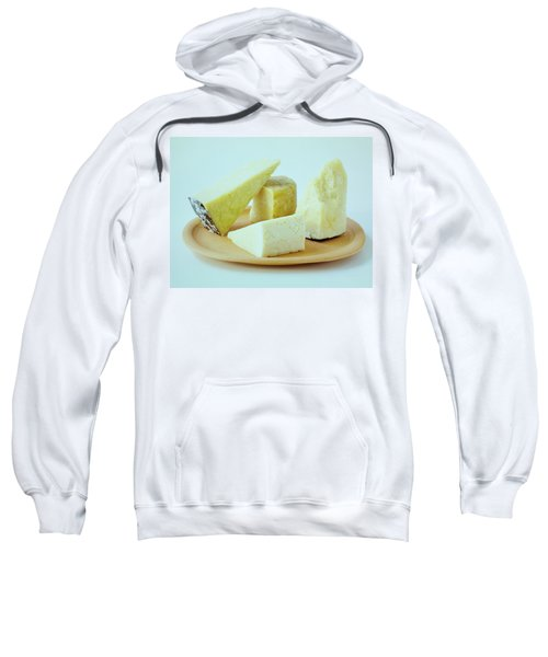 A Variety Of Cheese On A Plate Sweatshirt