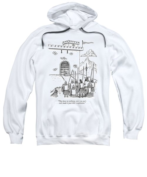 A Viking Army Stands Before A Castle Gate Where Sweatshirt