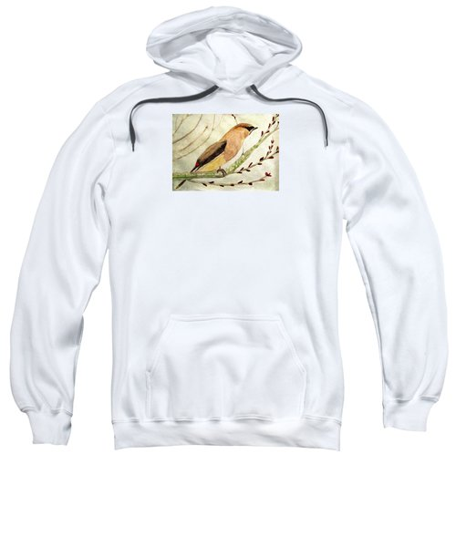 A Waxwing In The Orchard Sweatshirt