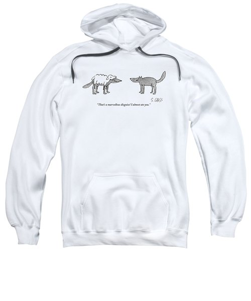 A Wolf Dressed As A Sheep Talks To Another Wolf Sweatshirt