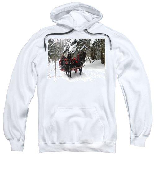 A Wonderful Day For A Sleigh Ride Sweatshirt