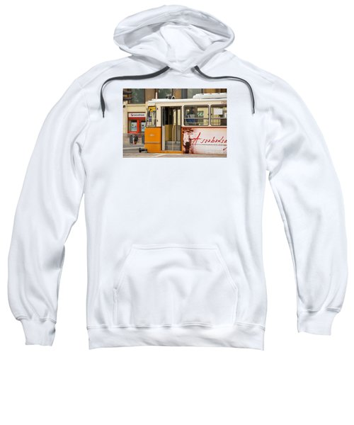 A Yellow Tram On The Streets Of Budapest Hungary Sweatshirt