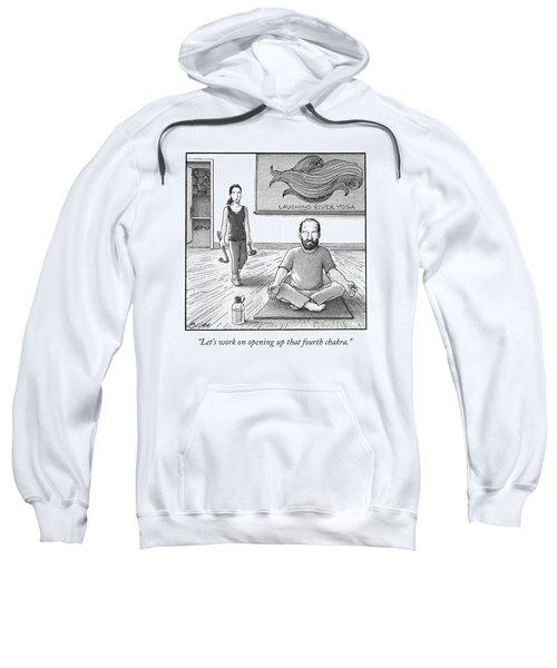 A Yoga Teacher Carrying A Crow Bar And A Mallet Sweatshirt