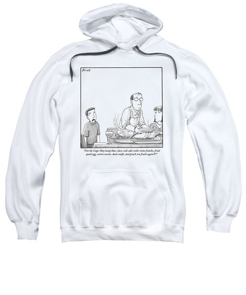 A Young Boy Complains About What's For Dinner Sweatshirt