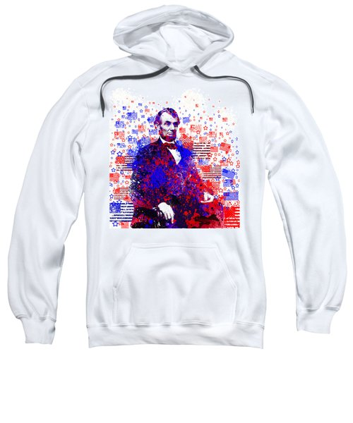 Abraham Lincoln With Flags 2 Sweatshirt