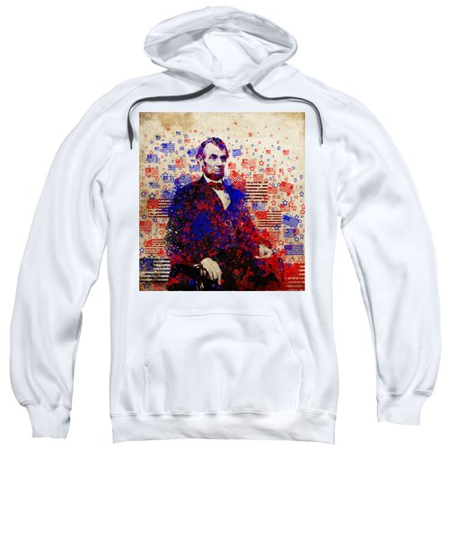 Abraham Lincoln With Flags Sweatshirt