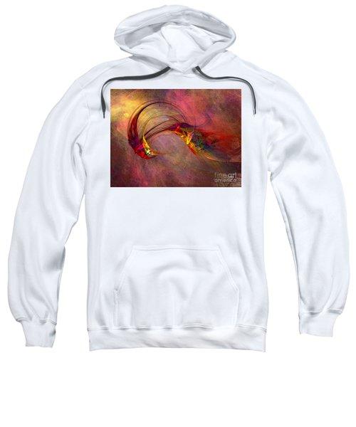Abstract Art Print Hummingbird Sweatshirt