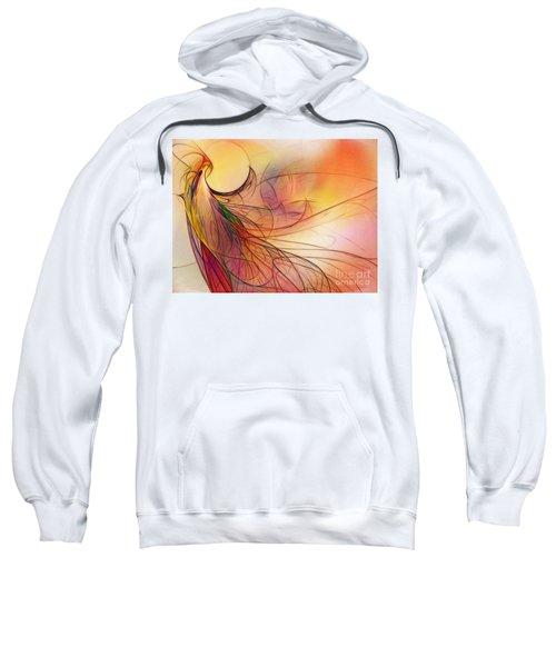 Abstract Art Print Sunday Morning Sidewalk Sweatshirt