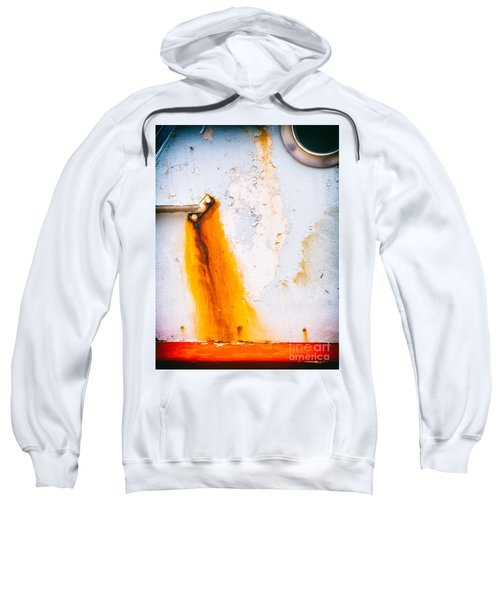 Sweatshirt featuring the photograph Abstract Boat Detail by Silvia Ganora