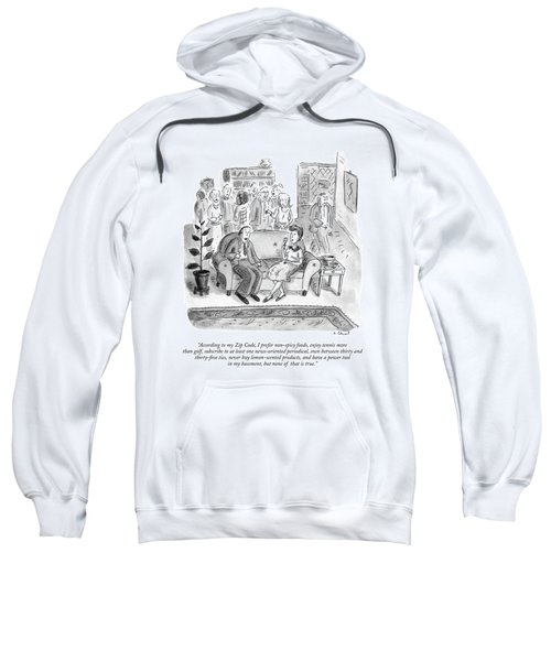 According To My Zip Code Sweatshirt