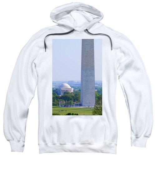 Aerial View Of Washington Monument Sweatshirt