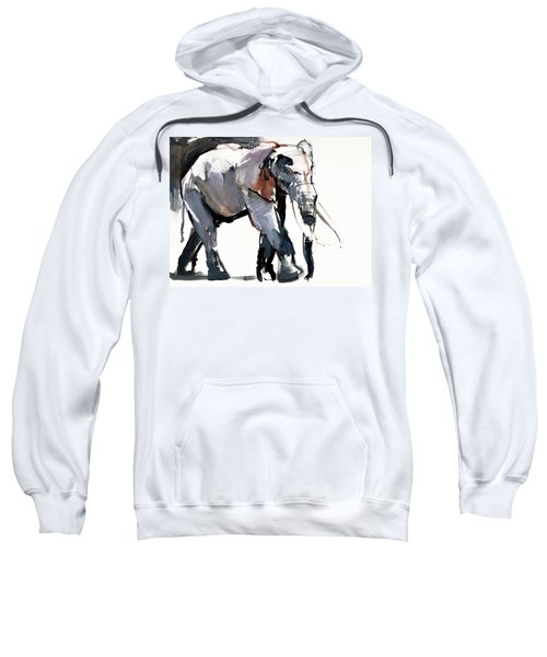 African Elephant, 2012, Mixed Media On Paper Sweatshirt