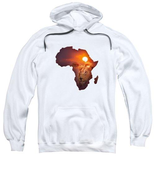 African Wildlife Map Sweatshirt