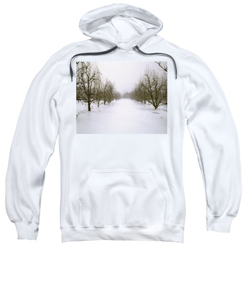 Agriculture - Snow Covered Dormant Pear Sweatshirt