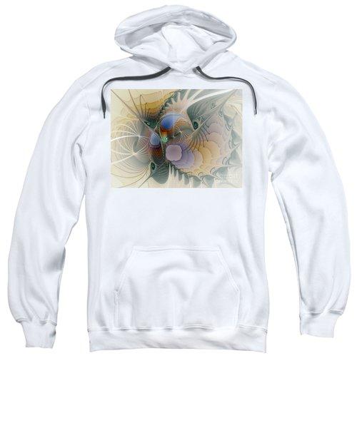 Airy Space-fractal Art Sweatshirt