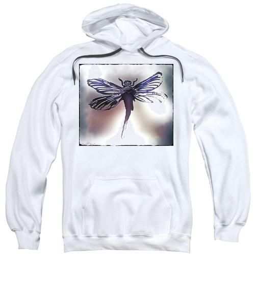 Alcohol Inks Purple Dragonfly Sweatshirt
