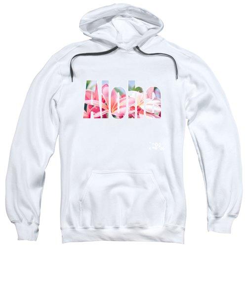 Aloha Tropical Plumeria Typography Sweatshirt