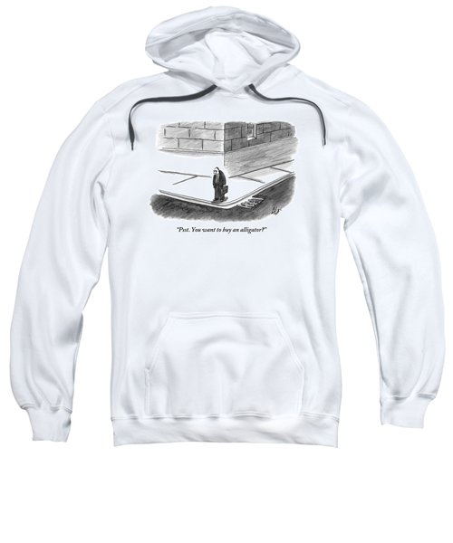 An Angry-looking Man Stands On The Corner Sweatshirt
