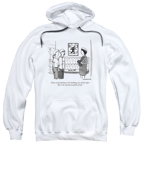 An Apartment Rental Broker Shows A Couple Sweatshirt