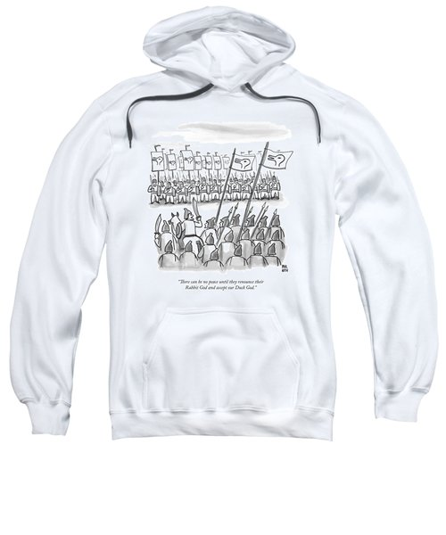 An Army Lines Up For Battle Sweatshirt