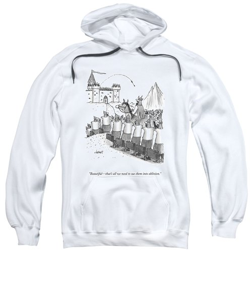 An Army Of Vikings Hold Briefcases Sweatshirt
