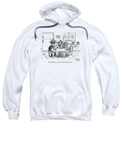An Boy Drawn In Characteristically Anime Style Sweatshirt