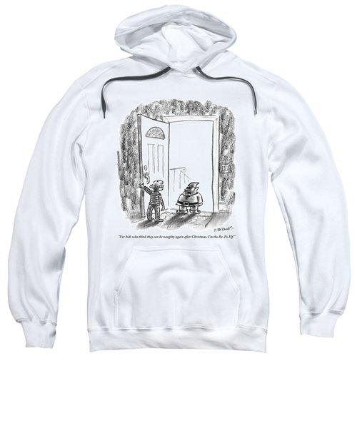 An Elf Arrives At A Child's Front Door Sweatshirt