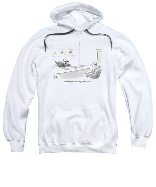 An Executive Behind A Desk Sweatshirt