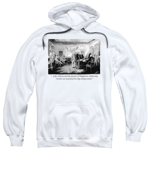 An Occassional Hot Dog Eating Contest Sweatshirt