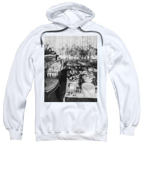 An Outdoor Dining Set Up Sweatshirt