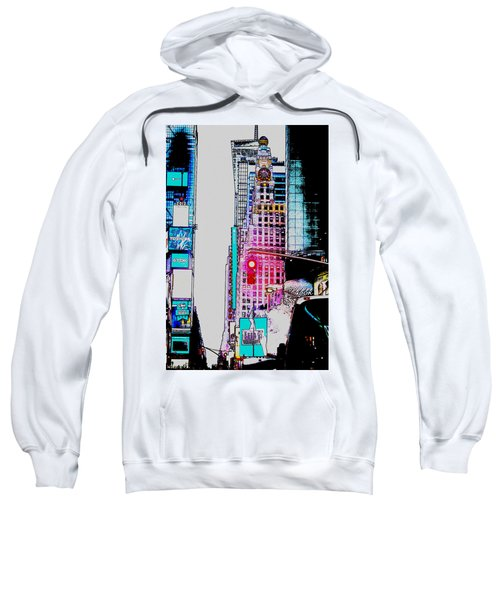 Approaching Times Square Sweatshirt